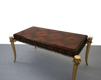 Stunning Vintage Gilt Tusk Desk by Maitland Smith