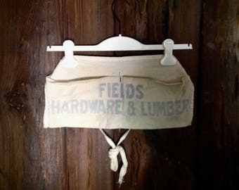 Vintage Fields lumber and hardware shop work apron