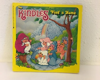 Vintage Book, The Kindles, The Kindles Find A Home, Vintage 1980s Cartoon, 80s Storybook