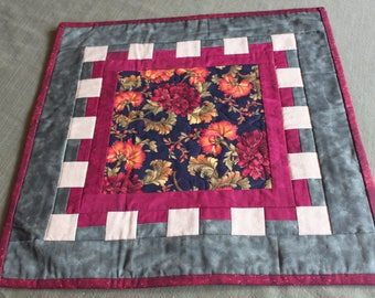Floral Table Topper-  Handmade Quilt