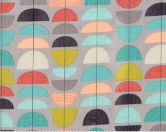 Ninja Cookies by Jenn Ski for Moda - Geometric Tulips - Grey - 1/2 Yard Cotton Quilt Fabric