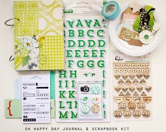 Oh Happy Day Mini Album / Journal and Scrapbook Kit