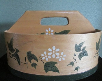 Hand Painted Wooden Handle Storage Container