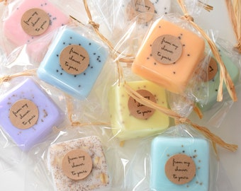 Wedding Favors- Soap Favors - Party Favors -Bridal Shower - Rustic Wedding - Custom Wedding Favors in your Wedding colors