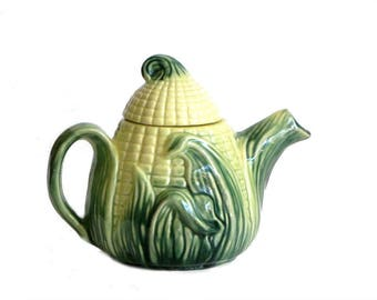 Stanford Ware Ear of Corn Teapot Country Kitchen Farmhouse Serveware Mid Century Ceramics Gift for Mom