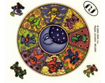 4 Dan Morris Grateful Dead Bear Celestial Sun Psychedelic Stickers RJ269