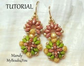 Earring Tutorial,SuperDuo Tutorial,Seed Beads,Beading Tutorial,Sead Bead Tutorials and Patterns,Beading Instructions,Bead Schemi,MyBeads4You