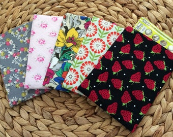 READY TO SHIP Birth Control Pill Sleeve - Pill Cover Travel - Floral Fabric Birth Control Pouch - Feminine Discreet Pill Cover