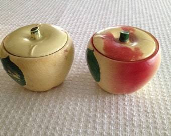 2 HULL Apple 'Grease Jars'   and/or  Hull Apple Jar lids -