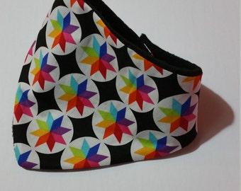 Toddler Bib Bandanna Bright Star Pattern