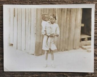 Original Vintage Photograph Big Sister