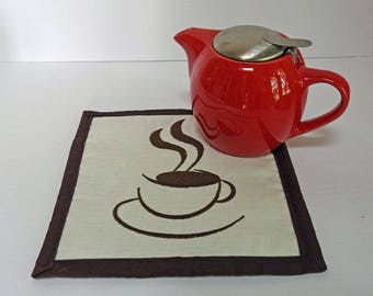 Coffee Break Snack Mat, Mug Rugs - Coasters - Hot Pads