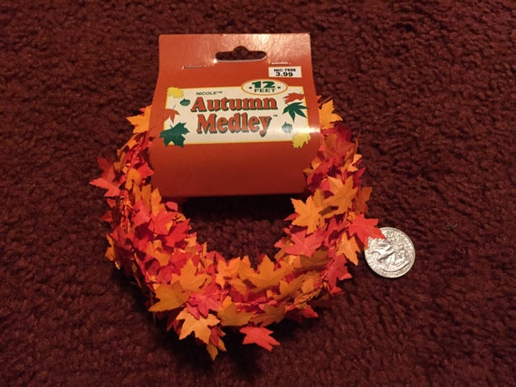 Autumn Medley 12ft Garland x3
