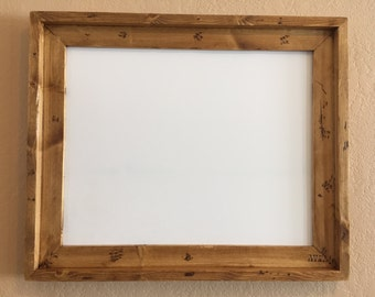 Handmade Lodgepole Pine Picture Frame, 16x20