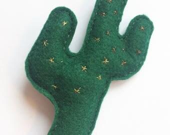 Cactus - Felt Brooch