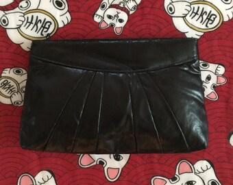 Vintage 1980s Black Clutch