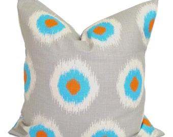 GRAY PILLOW.18x18 inch.Pillows.Decorative Pillow Cover.Grey Pillow.Gray.Housewares.Home Decor.Grey Cushion Cover. Blue Pillow Cover. Gray