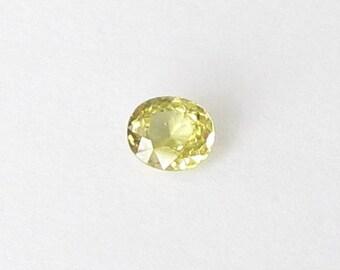 Natural Green Mali Garnet, Unheated, Oval Cut, 0.86 carat