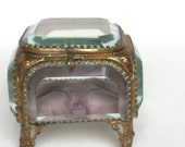 Antique jewelry box Antique Jewelry Casket Vintage jewelry box Glass jewelry box Ormolu box Victorian jewelry box Jewelry Display