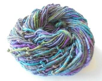YELLOWSTONE - Corespun Art Yarn, Handspun Yarn, Merino Wool Yarn, Bamboo Yarn, Shimmery Yarn, Bulky Knit Yarn, Bulky Merino Yarn, Soft Yarn