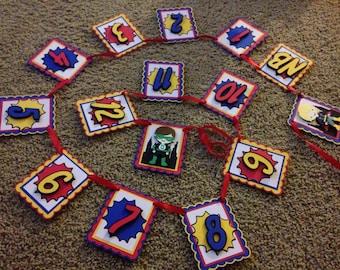 Superhero First Year Photo Banner