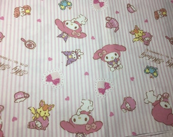Sanrio Fabric My Melody Kawaii Japanese Fabric dorect from Japan