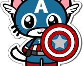 Captain Americat Vinyl Sticker - 3 Inch