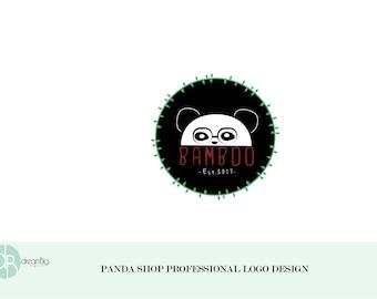 OOAK Custom Logo Design, Panda shop logo, panda logo, panda logo design, panda shop design, panda logo design, bamboo logo