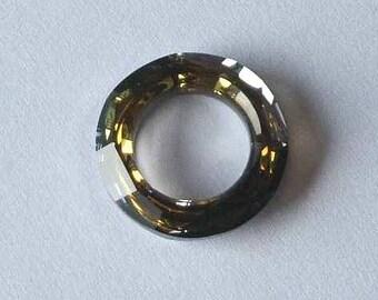 1 SWAROVSKI 4139 Cosmic Ring Crystal Bead 20mm TABAC