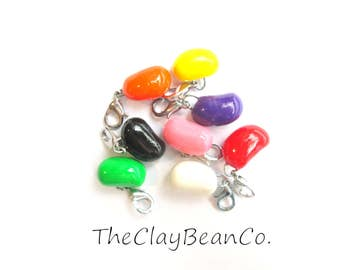 JELLYBEANS Easter stitch markers- set of 8 crochet clasps NEW