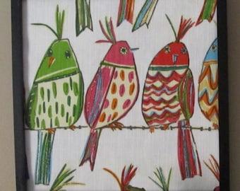Birds on a wire framed decor