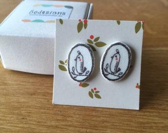 Bird Post Earrings