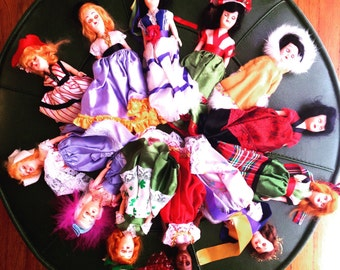 Set of 12 International Souvenir Dolls