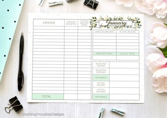 Set of 12 Budget Worksheets Printable Budget Worksheet – Budget Printable Worksheets
