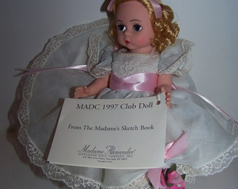 SKETCHBOOK madame alexander 8 in doll mint conditon