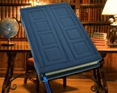 "Handcrafted Blank Leather Book  Inspired by River Songs Tardis Journal ""Spoilers"""