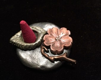 Blossom and Leaf Cone Incense Holder