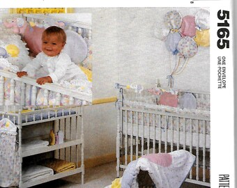 McCall's 5165 Baby's Nursery Package, Quilt, Pillow Sham, Diaper Stacker, Toys And Wall Hanging Sewing Pattern, UNCUT
