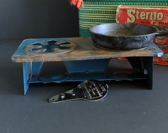 Vintage Sterno Double Service Cook Stove Canned Heat Camping Cook Top No 46