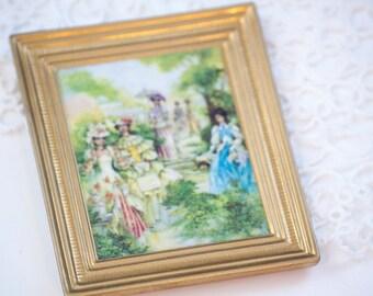 Small Avon Tribute through the Years Painting on Ceramic, Through the Years Tribute Painted by Don Sheffler