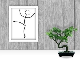 Dancer Digital Art Print - A