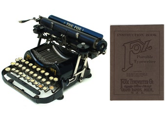 Fox Portable No.1 Typewriter Instruction Manual Instant Download
