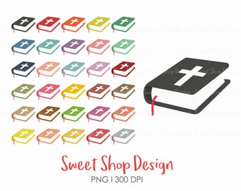 Bible Clip Art, Church Clip Art, Bible Study Clip Art, Holy Bible, Bible Icon, Planner Stickers, Instant Download