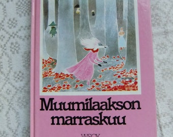 Vintage Moomin book in Finnish - Late November - Tove Jansson
