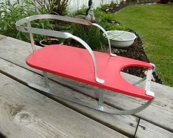 Vintage Swedish Mid Century  charming hand made small sledge