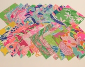 Fabric squares/quilting  6 X 6 inches 20 to a set ~Lilly Pulitzer~