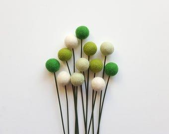 Billy ball flowers, craspedia flowers, pom pom flowers, alternative bouquet, faux bouquet, billy balls, green bouquet