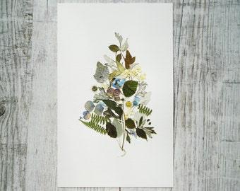 Fine art Floral art 05 Dried flowers decor Botanical art work Flower art Modern wall art Original art Framed wall art Decorative art gifts