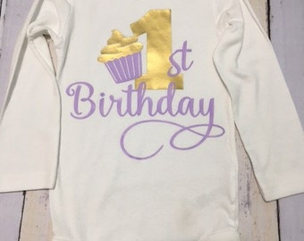 Girls first birthday, first birthday bodysuit, Girls lst birthday bodysuit