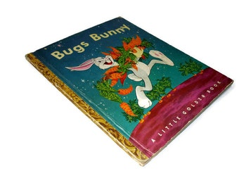 """Bugs Bunny Vintage Little Golden Book 1949 4th """" D """" Printing"""